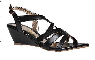 8b926b1d72 Leather Formal Bata Black Sandals For Women F661610200, Size: 3 4 5 6 7