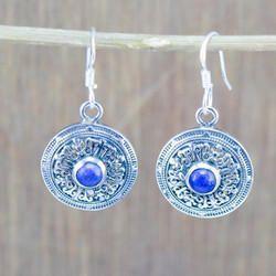 925 Sterling Silver New Fashion Jewelry Lapis Lazuli Gemstone Earring We-5478