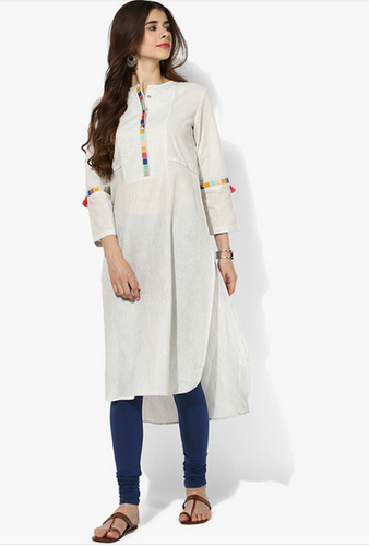 bce321950 Global Desi Off White Embroidered Kurta at Rs 2399  piece