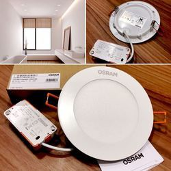 Cool White 12 W Osram 12W Round LED Slim Panel Light, Warm White, 230v