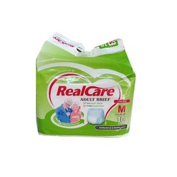 Real Care Medium Double Absorbent Pull Up Diapers, Waist Size: 22-39