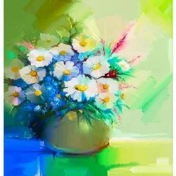 Uv Coated Canvas Floral Art