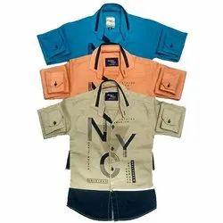 Cotton Casual Wear Fancy Kids Shirts, S - XL