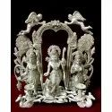 Silver Ram Lakshman Sita Idol, Packaging Type: Box