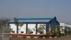 Sky Blue Industrial Sheds, 200'x50', Maharashtra