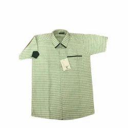 Cotton Half Sleeves Girls School Uniform Shirt