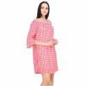 Printed Surplus Mini Dress For Ladies