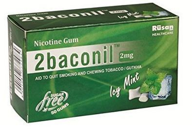 2baconil Nicotine Gum For Quit Smoking & Tobacco