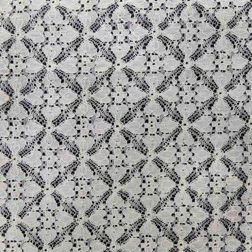 9b09b135b7 White Cotton Nylon Fabric