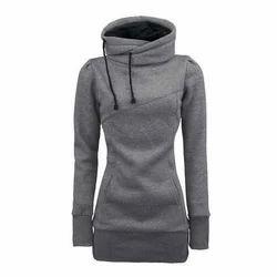 Grey All Size Girls Stylish Hoodie