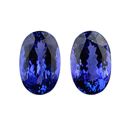 oval context gold stud earrings p jewellery tanzanite