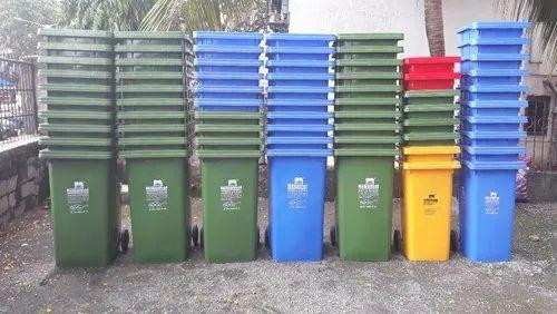 Rectangular Green Nilkamal 240 Ltr Waste Bins / Garbage ...