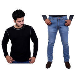 T- Shirt And Jeans Mens Jeans T-Shirt Combo