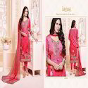 Designer French Crepe Embroidery Work Long Suit