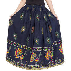 Cotton Jaipuri Ladies Skirts