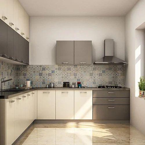 Best Modular Kitchen Design: L Shape Wooden Designer Modular Kitchen, Rs 2250 /square
