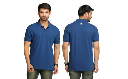 4f11365dcd5e60 Adidas Formal Wear Collar Neck Navy Blue Men Polo T Shirt, Rs 699 ...