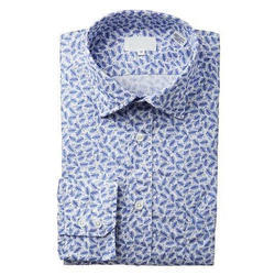 S And L Men Printed Cotton Shirt