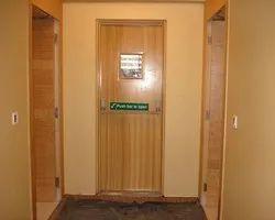 Modern Wooden Finish Steel Door