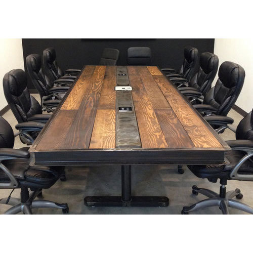 Wooden Rectangular Handmade Conference Table Rs Square Feet - Handmade conference table