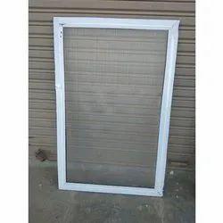 Modern Silver Aluminium Mesh Window Frame