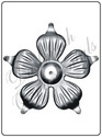 Decorative Sheet Metal Flower
