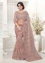 New Designer Net Resham Work Saree for Wedding Function