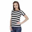 Black N White Stripes Top