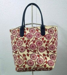 New Hand Made Block Print Cotton Bag Color Full Shoulder Tote Bag Hand Bag Art