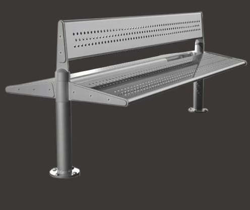 Incredible Stainless Steel 6 3 3 Seater Bench With Back Both Side Seating Ss 304 Grade Ocoug Best Dining Table And Chair Ideas Images Ocougorg