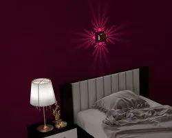 Powder Coated Steel Decorative Wall Lamp - Petal Design - Brown, Packaging Type: Box