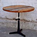 Industrial Vintage Rounded Cafe Table