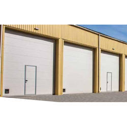 Industrial Sectional Doors With Pass Door