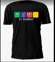 IIT Bombay Round Neck Black T Shirt