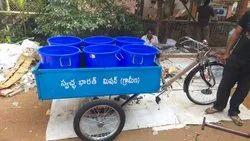 Mild Steel Garbage Tricycle Rickshaw