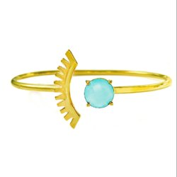 Aqua Chalcedony Bracelet Chalcedony Bangle
