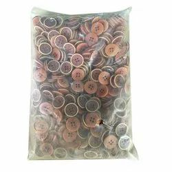 Round Shirt Polyester Button, Packaging Type: Plastic Packet