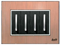 2 Module Brush Copper Modular Switch Plate