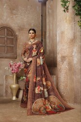 Linen Silk Party Wear Saree
