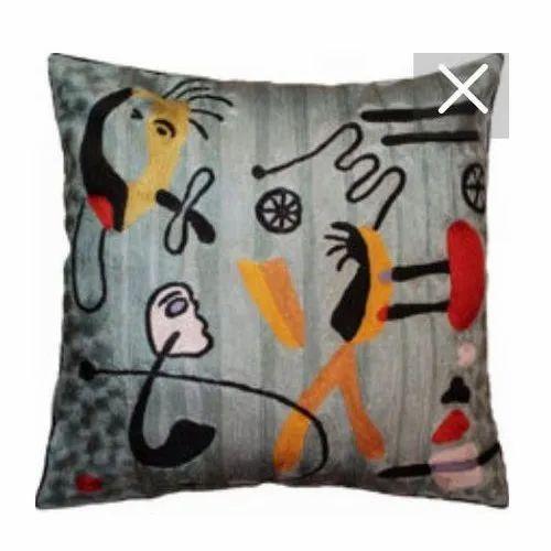 Handmade Square Miro Silk Throw Pillow Size 45x45 Cm Rs 1800 Piece Id 19133268655