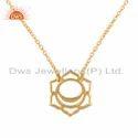 Indian Gold Plated Silver Svadisthana Chakra Chain Pendant