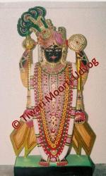 Black Marble Dwarkadhish Statue