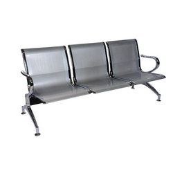 Stainless Steel 3 Seater Chair