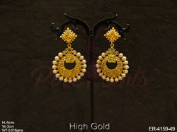 Polo Round Square Earrings