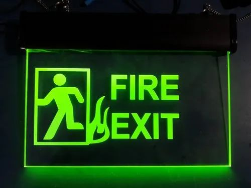 Led Lighting Outdoor Fire Safety Signage Manufacturer From