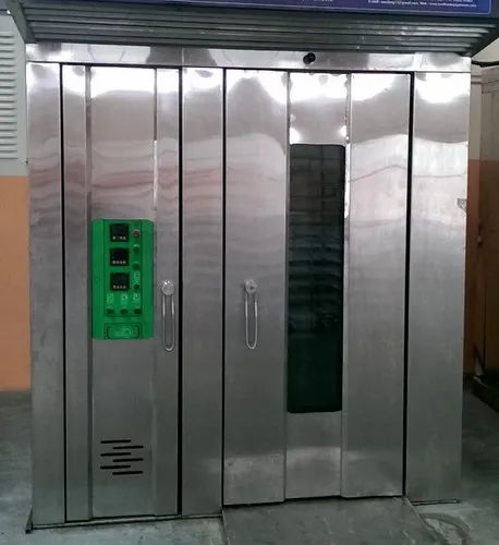 Alzain 100-200 Deg. Celsius Indian Rotary Oven, For Industrial, Baking Capacity: 10 To 200 Trays