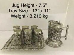 Antique Silver Plated Jug Set