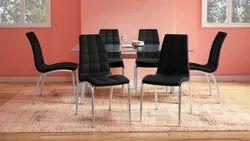 Modern Metal Dinning Chairs, Set Size: Set of 6