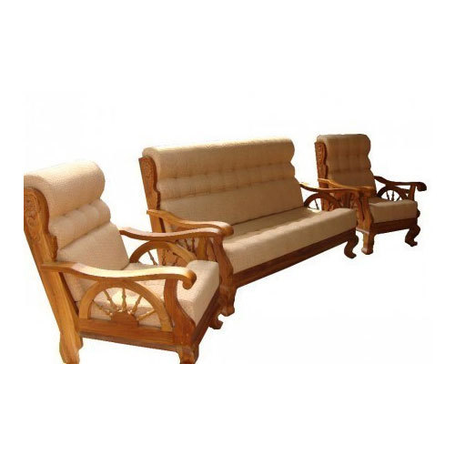 Teak Wood Sofa ~ Teak wood sofa set design living room
