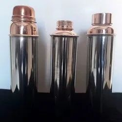 Dr. Vedic Polished Stainless Steel Copper Bottles